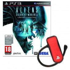 Aliens Colonial Marines Limited Edition and Red Bluetooth Wireless Headset Bundle PS3