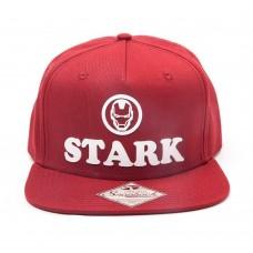 Marvel Comics Iron Man Unisex Tony Stark 3D Logo Snapback Baseball Cap - Red