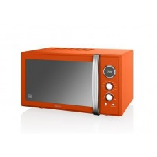Swan Retro 25L Digital Combi Microwave with Grill - Orange 900w (SM22080ON)