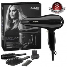 BaByliss Power Light 2000W Hair Dryer Set with Accessories (Model No. 5249U)