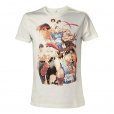 Capcom Street Fighter IV Adult Male Character Roster T-Shirt Medium Size - White