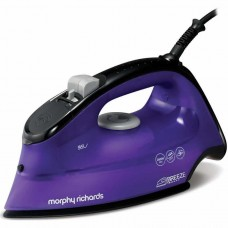 Morphy Richards Breeze Iron Steam Iron - Black and Purple (Model No. 300253)
