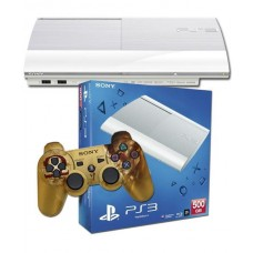 PS3 500GB Slim Console White + God of War Ascension Special Edition Controller
