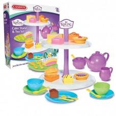 Casdon Mr Kipling Cake Stand and Tea Set - Role Play Kids Toy