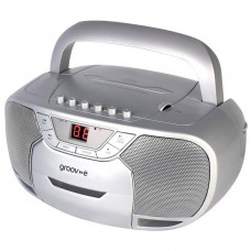 Classic Boombox Portable CD and Cassette Player with Radio - Silver (GVPS823SR)