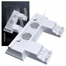 Gioteck Aero S White Vertical Stand with Charger and Fan - S Xbox One