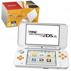 New Nintendo 2DS XL Handheld Console - White and Orange - Nintendo 3DS