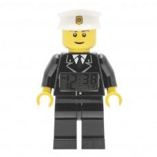 Lego City Policeman Minifigure Clock