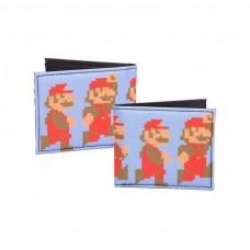 Nintendo Super Mario Bros Pixelated Running and Jumping Mario Bi-fold Wallet