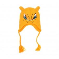 Pokemon Unisex Charizard Face and Ears Laplander Earflap Beanie - Orange