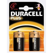 Duracell C Size Alkaline Batteries - Pack of 2 (Model No MN1400B2PLUS)