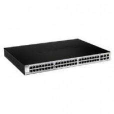D-Link DES-1210-52 48 Port Smart Switch with 2 Gigabit Ports and 2 Combo SFP Gigabit Uplinks