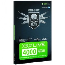 Xbox Live 4000 Points Card Call Of Duty Branded Xbox 360 NOT Included UK Only
