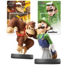 Amiibo Super Smash Bros Character Bundle Luigi and Donkey Kong Nintendo Wii U