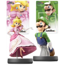 Amiibo Super Smash Bros Character Bundle Luigi and Peach Nintendo Wii U