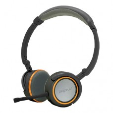 APPROX Foldable Stereo Hi-Fi Headset with Detachable Microphone, 2m, Grey/Orange (APPHS05O)