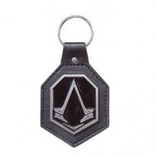 Assassins Creed Metal Brotherhood Crest Keychain Black/Silver Model. KE051309ACS