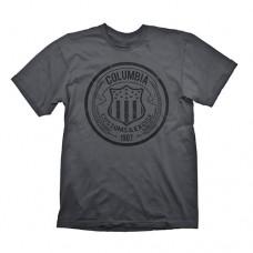 Bioshock Columbia Customs and Excise 1907 Mens T-Shirt XL Dark Grey GE1706XL