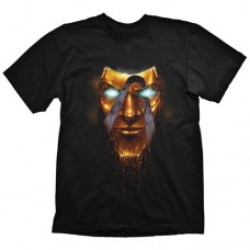 Borderlands Men's Handsome Jack Golden Mask T-Shirt, Large, Black (Model No. GE1808L)