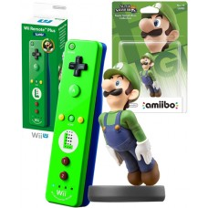 Luigi Nintendo Wii U Remote Plus Green Controller and Amiibo Characater Bundle