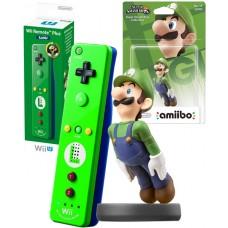 Luigi Nintendo Wii U Remote Plus Green Controller and Amiibo Characater Bundle