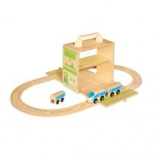 BoxSet Casdon Wood Play Train - Kids Toys