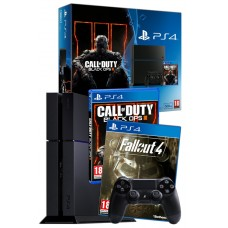 PS4 Black Console 500GB with Call of duty Black Ops and Fallout 4 PS4 Bundle