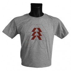 DESTINY Red Hunter Logo Large T-Shirt Melange Silver (TS2BRFDES-L)