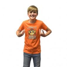Digital Dudz Kids Moving Eyes Monkey Business Digital T-Shirt XL Orange DDKTMBX-XL