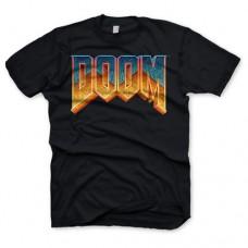 Doom Mens Classic Game Logo T-Shirt Extra XL Black Model. GE1126XXL