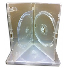 Amaray DVD CD Blu Ray Videos Clear Double Case Pack of 10
