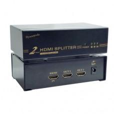 Dynamode 2 Port High Definition HDMI Splitter v1.4 - Black (C-HDMI-SP-2)