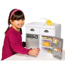 Casdon Electronic Sink Unit White Dishwasher Utensils Fridge Crockery Food Toys