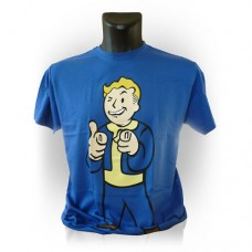 Fallout Vault Boys Charisma Small T-Shirt Blue Model. GE1207S