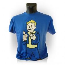 Fallout Vault Boys Charisma Extra Large T-Shirt, Blue (Model No. GE1207XL)