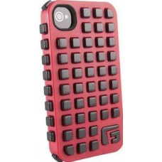 G-FORM iPhone 4 / 4S Extreme Grid Case, Red Case/Black RPT (CP2IP4009E)