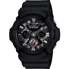 G-Shock Mens Black Quartz Resin Strap Watch (Model No. Casio GA201-1A)