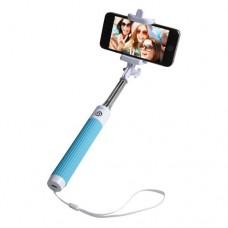 Groov-e Wireless Selfie Stick Self-Portrait Monopod + Remote Shutter Blue (GVSS01BE)