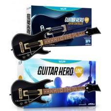 Guitar Hero Live Game + 2 Guitar Controllers Bundle GHL15 Wii U