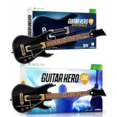Guitar Hero Live Game + 2 Guitar Controllers Bundle GHL15 - Xbox 360