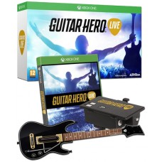 Guitar Hero Live with Guitar Controller Xbox One +FREE Rechargeable Battery Pack