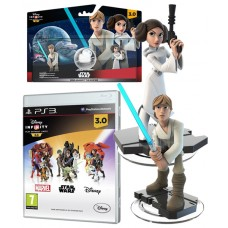 Disney Infinity 3.0 Video Game PS3 + Rise Against The Empire Play set Bundle