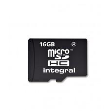 Integral Micro SDHC 16GB Class 4 Memory Card + Adapter (MICROSD16GB)
