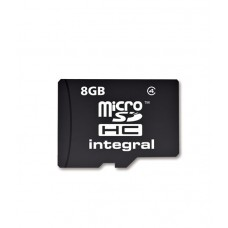 Integral Micro SDHC Media Memory Card with SD Adaptor Capacity 8GB  (MICROSD8GB)