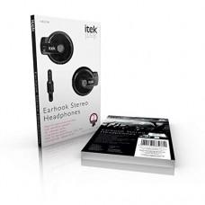 iTek Earhook Stereo Headphones Black (Model No. I58029B)