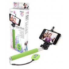 iTek Universal Selfie-Stick Green with Bluetooth Shutter Remote (Model I72002G)