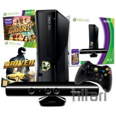Xbox 360 4GB Console with Kinect Sensor and Driver San Francisco Bundle