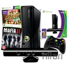 Xbox 360 4GB Console with Kinect Sensor and Mafia 2 Bundle