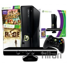 Xbox 360 4GB Console with Kinect Sensor and Rage Bundle