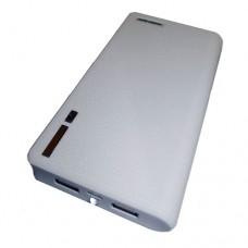 LMS Data Dual USB Devices Pocket PowerBank Charger - 11500mAh - White (PBK-11500-W)